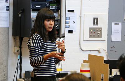 Jessica Arthur directing at NIDA