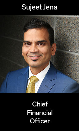 Image of CFO Sujeet Jena, links to bio