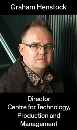 Image of Graham henstock, director of the Centre for Technology, Production and Management, links to bio