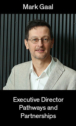 Image of Mark Gaal, Executive Director for Pathways and partnerships, links to bio