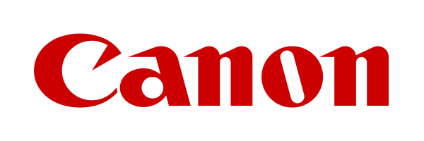 Canon logo in red text on white background - links to Canon website