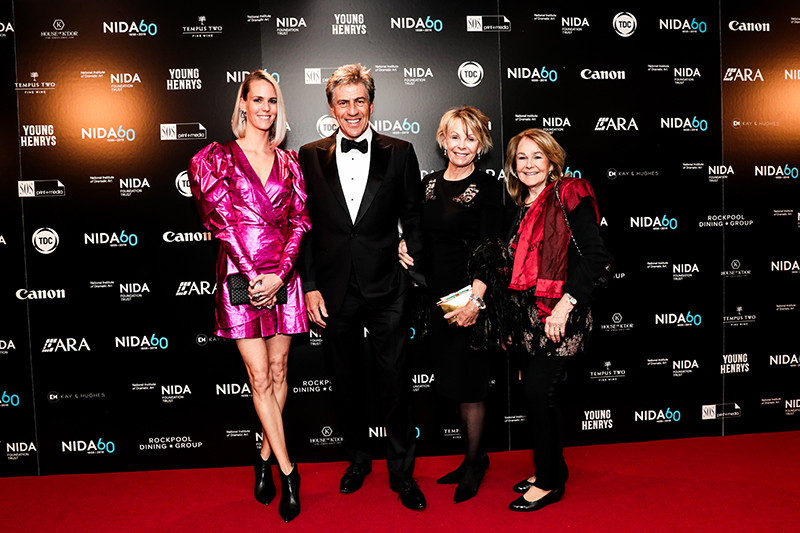 Sibylle Jarosch, co-director of NIDA's Foundation Trust Andrew Banks, Andrea Banks and Jodie Noll.