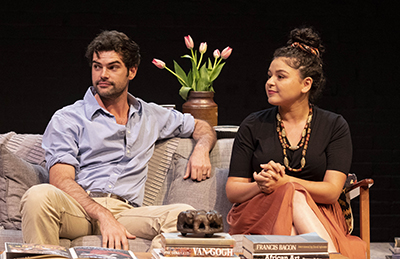 Melissa Kahraman and Nicholas Drummond in 2019 graduating production God of Carnage, directed by Judy Davis