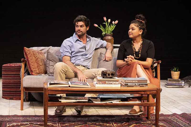 Melissa Kahraman and Nicholas Drummond in 2019 graduating production, God of Carnage directed by multi-Emmy-Award-winning Judy Davis