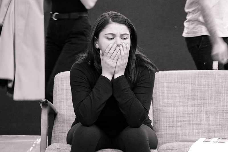 Melissa Kahraman rehearsing for her NIDA graduating production in 2019