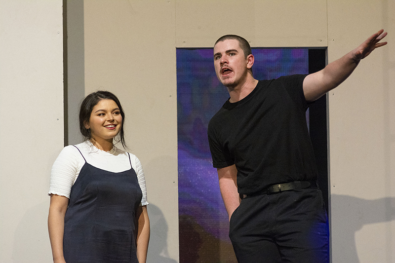 Melissa Kahraman and Declan Kelly in 2019 NIDA production Roberto Zucco
